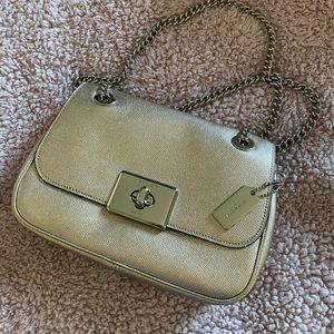 Coach crossbody Cassidy metallic purse